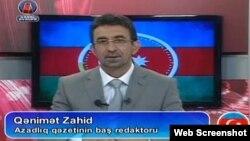«Azərbaycan saatı» verlişində çıxış edən Qənimət Zahid