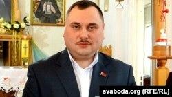 Сакратар ЦК КПБ Мікалай Валовіч у храме