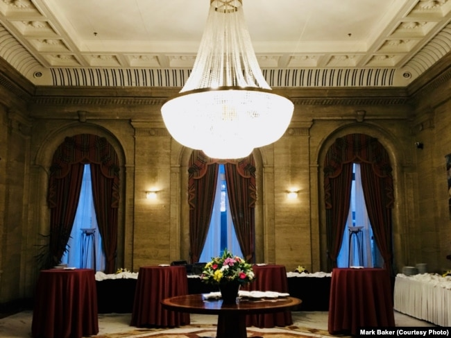 The sumptuous interior of the hotel balkan in sofia bulgaria is another example of