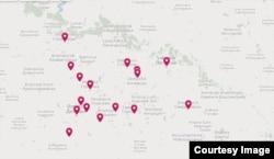 Населені пункти, в яких зафіксовано випадки гендерно обумовленого насильства