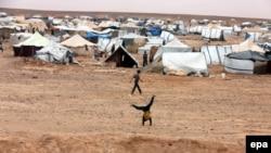 Pamja nga një kamp i refugjatëve në Jordani.