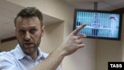 Олексій Навальний у суді в Москві, Олег Навальний бере участь у засіданні через відеоконференцію, 17 лютого 2015 року