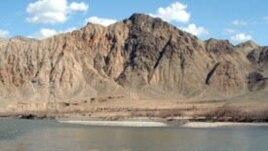 Armenia -- The river Arax marking the Armenian--Iranian border, 16Sep2010