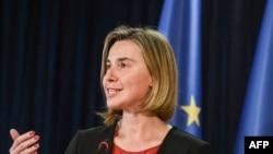 فدریکا موگرینی، مسئول سیاست خارجی اتحادیه اروپا،