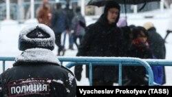 Ռուսաստան - Ձմեռային Մոսկվայի փողոցներից մեկում, արխիվ