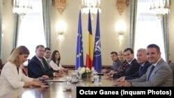 Astăzi la Palatul Cotroceni la întîlnirea cu reprezentanții Partidului național Liberal