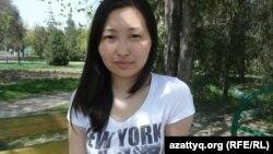 Нью-Йорктегі Колумбия университетінде оқып келген Гауһар Қадірсізова. Алматы, 24 мамыр 2012 жыл.