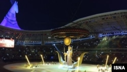 Церемония закрытия V Азиатских игр в закрытых помещениях и по боевым искусствам, Ашхабад, 27 сентября 2017.