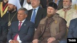 Президент Татарстана Рустам Минниханов, глава Чечни Рамзан Кадыров