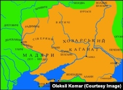 Карта Хозарського каганату