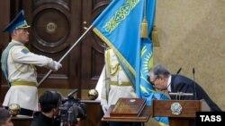 Қасым-Жомарт Тоқаев ант беру рәсімінде. Астана, 20 наурыз 2019 жыл.