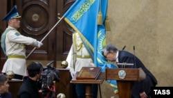 Касым-Жомарт Токаев во время церемонии принесения присяги президента на заседании парламента, Астана, 20 марта 2019 года.