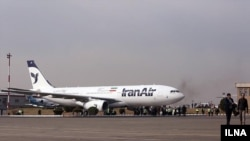 An IranAir plane manufactured by Airbus