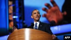 ԱՄՆ - Բարաք Օբաման ելույթ է ունենում Դեմոկրատական կուսակցության համագումարում, Շարլոթ, 6-ը սեպտեմբերի, 2012թ.