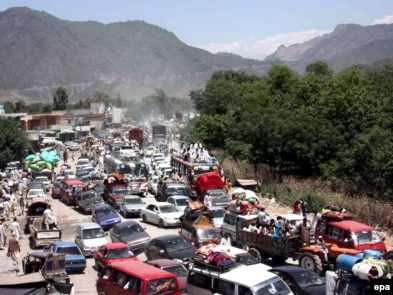 Nearly 2 million Pakistanis have left the Malakand region in recent weeks.