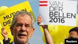 Александр Ван дер Беллен, независимый кандидат, одержавший победу на президентских выборах в Австрии. 20 мая 2016 года.