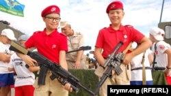 Діти на Дні десантних військ в окупованому Севастополі