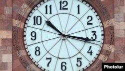 Armenia -- The clock in Republic Square in Yerevan, undated