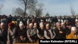 Митинг-реквием в память о погибших в Аксыйских событиях, село Боспиек Аксыйского района. 17 марта 2019 г.
