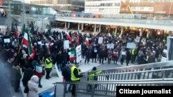 یکی از تجمعات ایرانیان در استکهلم