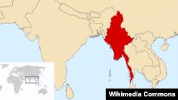 М'янма на мапі