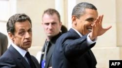 საფრანგეთისა და აშშ-ის პრეზიდენტები, ნიკოლა სარკოზი და ბარაკ ობამა