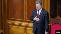 Ուկրաինայի նախագահ Պետրո Պորոշենկոն Գերագույն ռադայում, Կիև, 4-ը հունիսի, 2015թ․