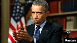 باراک اوباما، رئیسجمهوری آمریکا، در گفتوگوی با خبرگزاری رویترز. ۲ مارس ۲۰۱۵