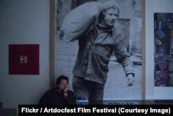 Филип Ремунда на премьере фильма в Чешском культурном центре, Артдокфест, Москва