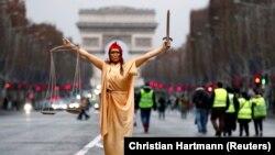 La o demonstrație la Paris la 22 decembrie 2018
