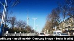 Одна из улиц Ташкента.