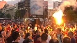 Desničarski protest dan uoči izbora u Srbiji