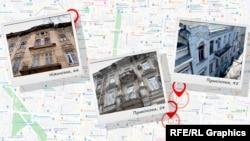 На вулицях Пушкінській і Ніжинській журналістів зацікавили три пам'ятки архітектури місцевого значення, значними частками яких володіє міська рада