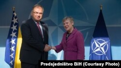 Predsjedavajući Predsjedništva BiH Mladen Ivanić i zamjenica glavnog tajnika NATO-a Rose Gottemoeller u Bruxellesu