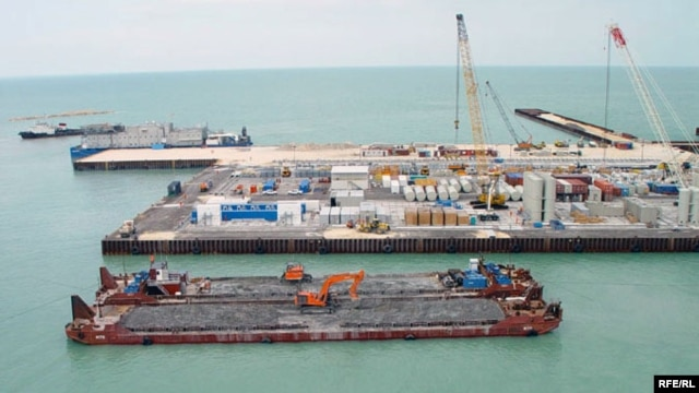 The Kashagan field, located in Kazakhstan's sector of the Caspian Sea, has reserves of 38 billion barrels of oil.