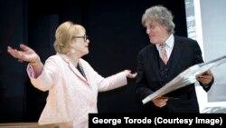 Том Стоппард с Антонией Фрейзер, вдовой Гарольда Пинтера (фотограф George Torode)