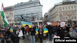 Демонстрація солідарності з українським народом в Будапешті, 26 січня 2014 року