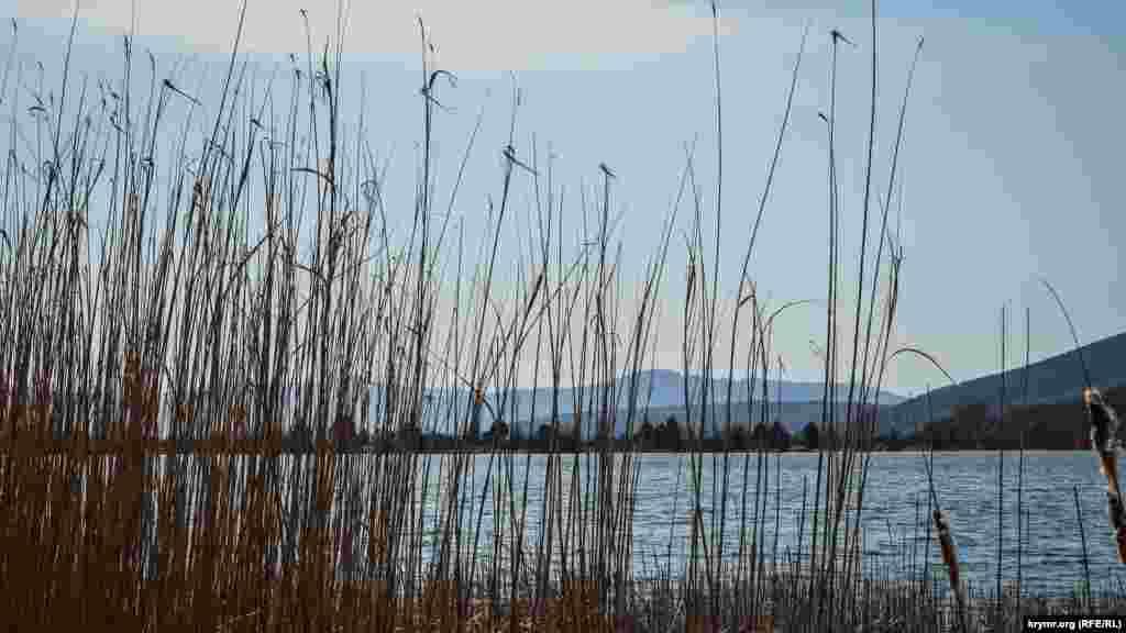 Озеро Нижнее – самое большое в Байдарской долине