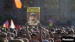 Еревандагы митинг. Никол Пашиняндын тарапкерлери Армениянын борборунда. 2-май, 2018-жыл.