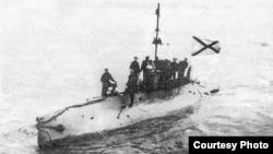 Архивное фото: Российская подводная лодка постройки 1904 года