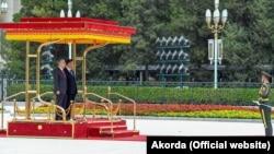 Касым-Жомарт Токаев и Си Цзиньпин во время официальной церемонии. Пекин, 11 сентября 2019 года.
