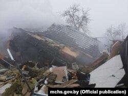 Выбух дома ў Барысаве