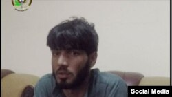 A photo published by the Afghanistan's National Directorate of Security on its Facebook page showing Sayed Rahman, a man they say planned to detonate explosives at the funeral of an antigovernment protester in Kabul.