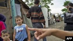 La o tabără de romi lîngă Lyon