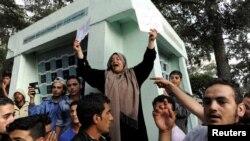 Թուրքիայում միգրատները բողոքում են՝ պահանջելով թույլտվություն Բուլղարիա կամ Հունաստան անցնելու համար, 21-ըսեպտեմբերի, 2015թ.