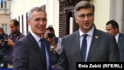 Jens Stoltenberg i Andrej Plenković u Zagrebu