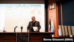 President Hassan Rouhani's adviser, Hesamoddin Ashna at the University of Tehran on student day in Iran, Sunday, December 09, 2018.