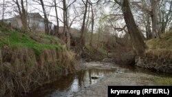 Річка Кача цього року значно обміліла через малу кількість опадів, як і інші річки Криму