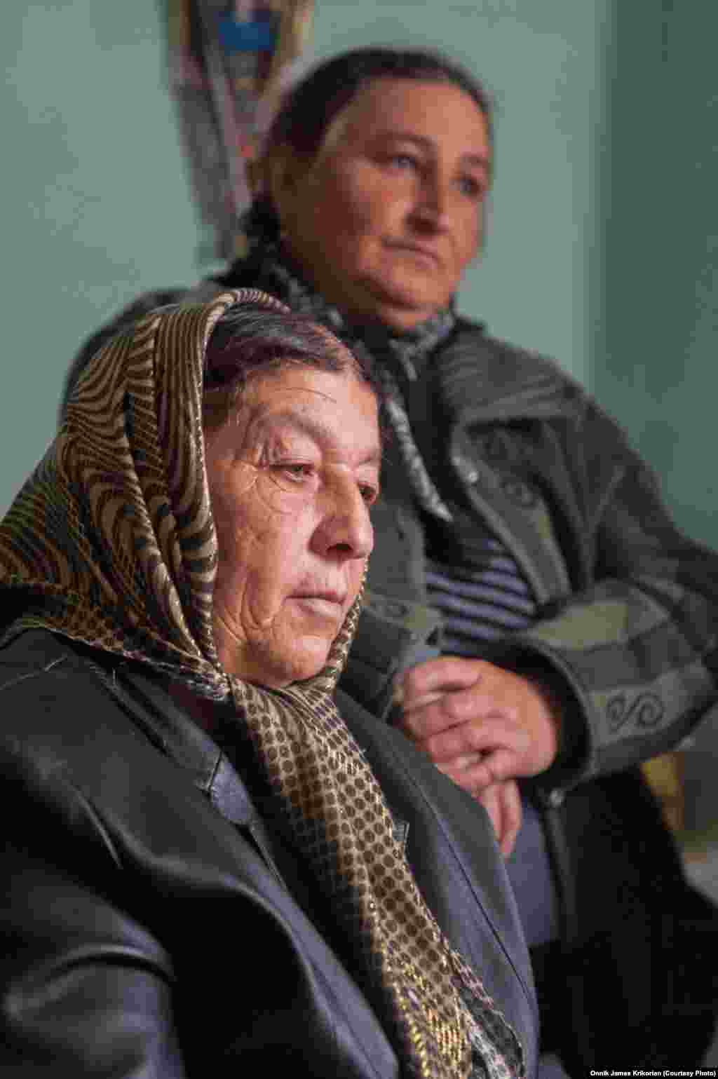 Ethnic Azeri relatives of the bride wait for her to arrive.
