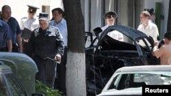 La scena exploziei din Chișinău